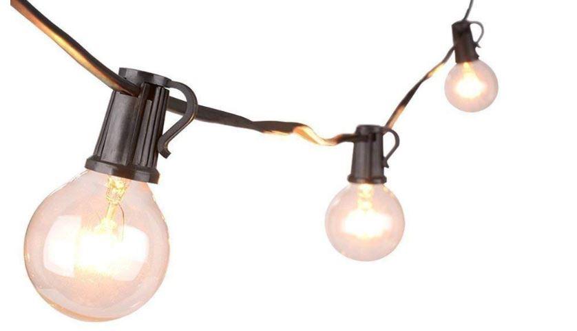 25 x 7w Clear bulbs 7.6m
