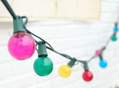 25 x 7w Coloured bulbs 7.6m