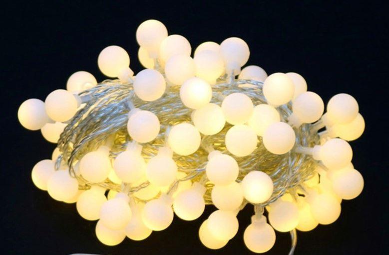 50 x Mini Golf ball LED (White) 10m